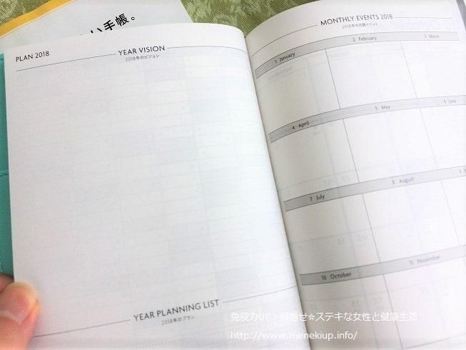 エディット手帳 1年間の計画